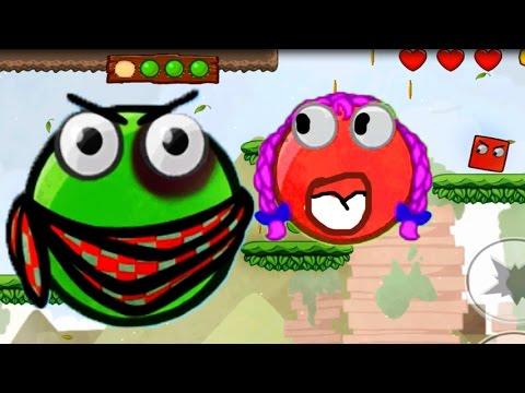 Red BALL. Красный - Зеленый шарик [2]. Мультик игра для детей.