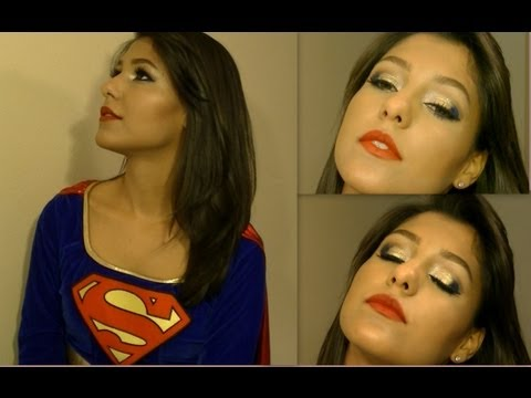 Halloween SUPER GIRL Tutorial! (hair And Make Up) | How To Make U0026 Do Everything!
