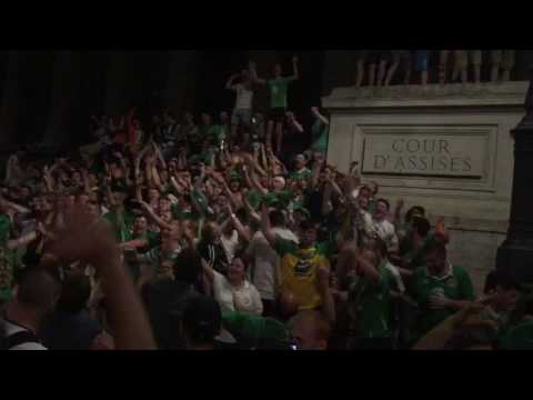Irish fans in Lyon give rousing rendition of 'Shane Long's on Fire'