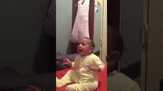 Baby trying to sing ABC