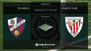 Calentamiento SD Huesca vs Athletic Club