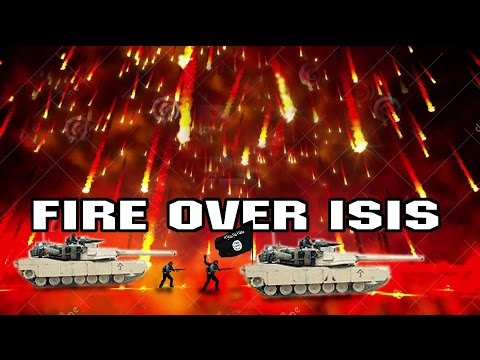 BOMBING ISIS FROM HEAVEN IN SYRIA & IRAQ WAR