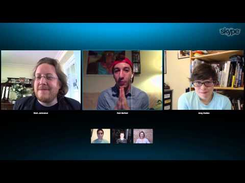 Fans debate the Marvel universe over Skype