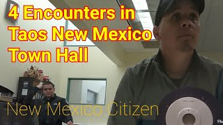 YOU CAN'T RECORD ME IN A PUBLIC PLACE WITHOUT MY CONSENT!! First Amendment Audit Taos New Mexico