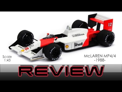 McLaren MP4/4 - 1:43 Scale Model Review Unboxing