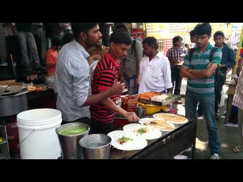 Indian south indian food dosa making roadside