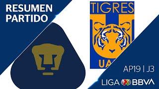 Resumen y Goles | Pumas UNAM vs Tigres UANL | Apertura 2019 - Jornada 3 | Liga BBVA MX