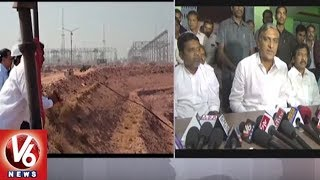Harish Rao Condemns Congress Leaders Comments On Gov Narasimhan Over Kaleshwaram Project