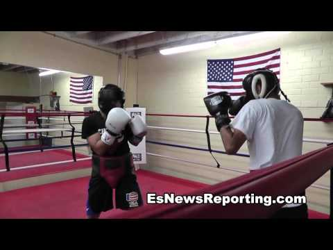 Boxing prospect Fernando Cortez Sparring - EsNews Boxing