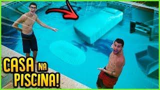 FIZ UMA CASA EMBAIXO DA PISCINA!! ( CASA AQUÁTICA ) [ REZENDE EVIL ]
