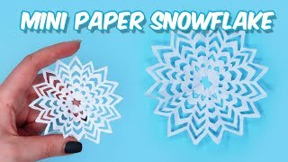 Mini Paper Snowflake DIY / How to make mini&cool Paper Snowflakes