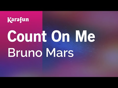 Karaoke Count On Me - Bruno Mars * video