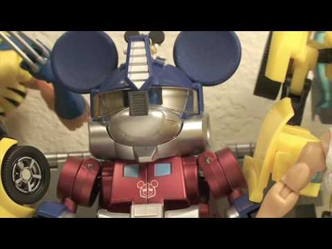 Thumb Juguete de Transformers de Mickey Mouse como Optimus Prime
