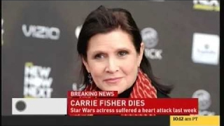 Carrie Fisher Dies, 'Princess Leia' Star War Actress is Dead at 60 [BREAKING NEWS]