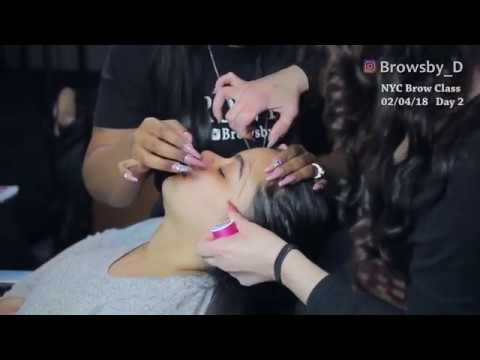 Eyebrow Threading Training Class With BrowsBy_D NYC18 PART 2