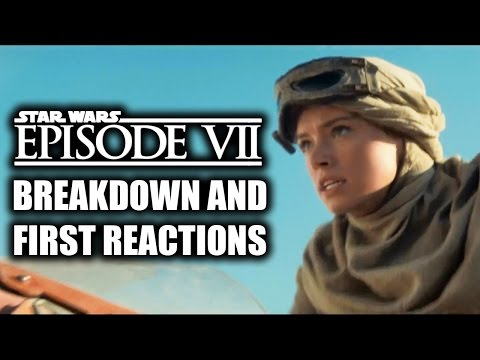 Star Wars Episode 7 (VII): The Force Awakens Official Trailer REVIEW & REACTIONS (2015)