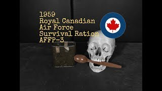 Rare 1959 Royal Canadian Air Force Survival Food Packet From Steve1989 -- Warning: Rotten Food
