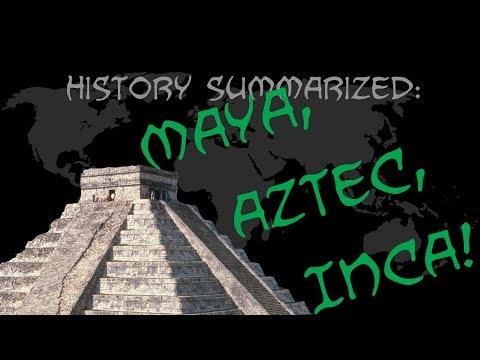 History Summarized: The Maya, Aztec, and Inca