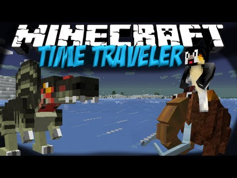 Time Machine Mod: Minecraft Time Traveler Mod Showcase! 4 New Dimensions!!