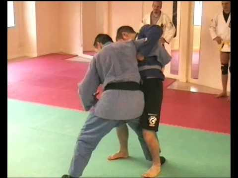 Sambo Techniques - Throw combinations #2 Hip Throw to Ankle Pick.wmv Image 1