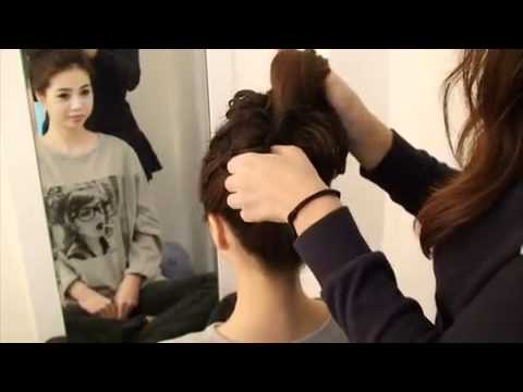 Peinado tipico Chongo Coreano (Korean Up-Do)