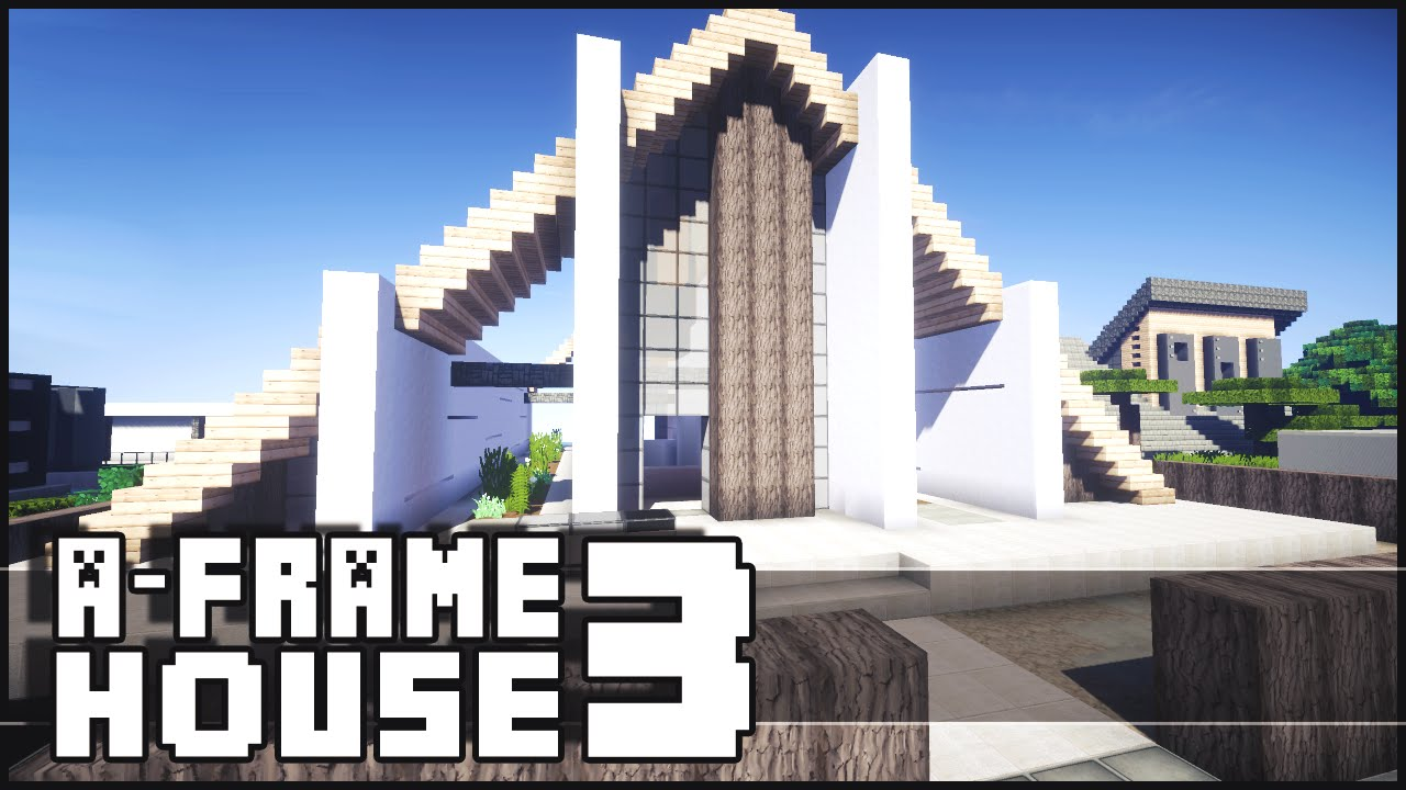 Minecraft modern a frame house 3 youtube for Keralis modern house 9 part 1