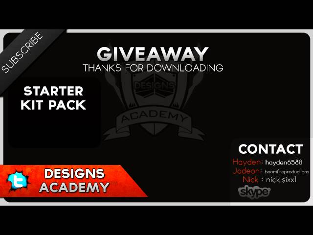 Giveaway Friday! Starter kit GFX pack| #16