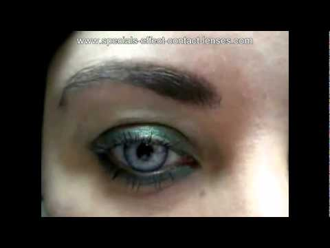 Beautiful Light Blue Grey Color Contact Lenses For Girl