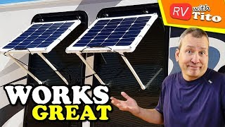 FLEXIBLE SOLAR PANEL WINDOW AWNING Battery Charging System [DIY Project IDEA]