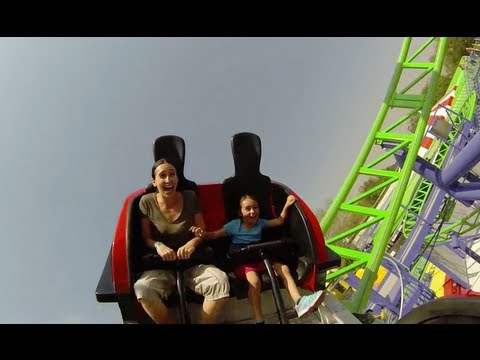 The Joker Spinning Roller Coaster POV Six Flags Mexico