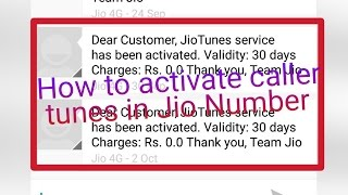 How to activate caller tunes in Jio Number