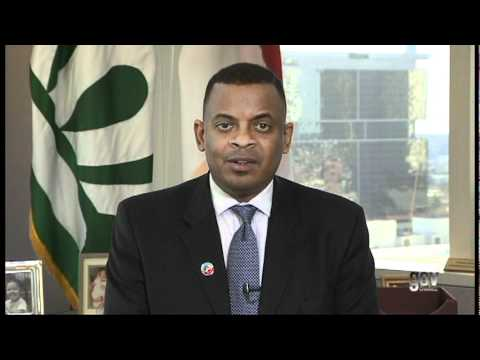 Charlotte Mayor Anthony Foxx discusses the relevance of wind power industry in NC