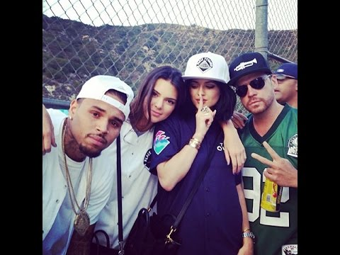 Chris Brown gets Full Support from Lil Wayne, Kendall Jenner & More Friends at Charity Event