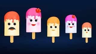The Finger Family Ice Cream Candy Family Nursery Rhyme | Ice Cream Finger Family Songs