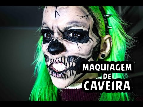 [Tutorial] Maquiagem de Caveira / Skull Make up