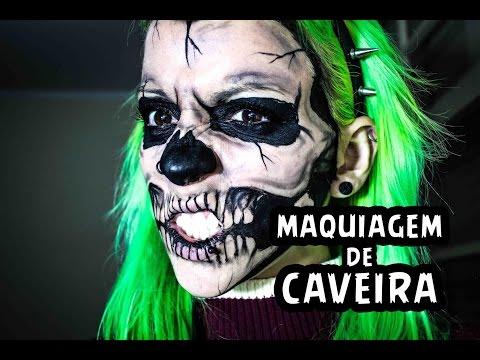 [Tutorial] Maquiagem de Caveira / Skull Makeup