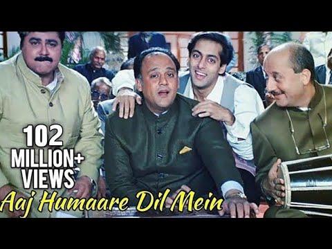 Aaj Humaare Dil Mein - Bollywood Song - Alok Nath, Reema Laagu, Salman Khan - Hum Aapke Hain Kaun video