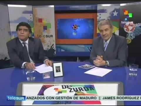 De Zurda, 13 julio 2014, programa final con Maradona y Víctor Hugo