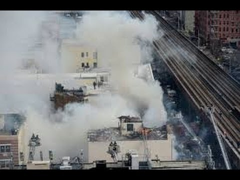 FULL VIDEO Building Explosion and Collapse at Harlem, Manhattan NYC Block Collapses