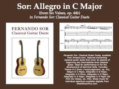 Fernando Sor - Allegro In C