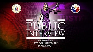 JBC Public Interview for the position of Associate Justice Day 1 - PM