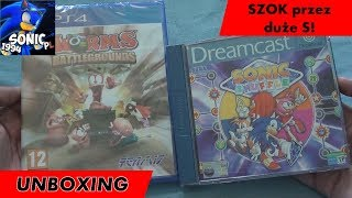 Unboxing (PL) - Worms Battlegrounds (2014 - PS4), Sonic Shuffle (2000, 2001 - Dreamcast)