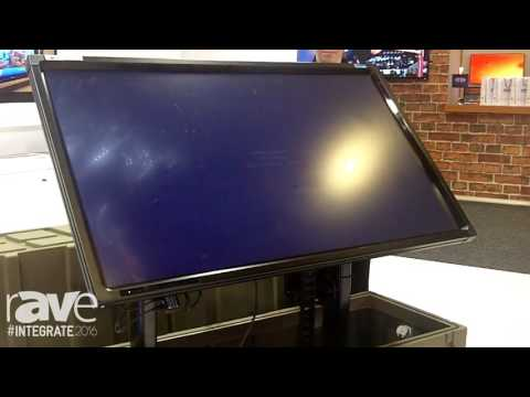 Integrate 2016: Ultralift Australia Demos the Motorized Road Case for Touch Panels