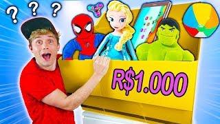 O QUE TEM NUMA CAIXA MISTERIOSA DE BRINQUEDOS ? 📦 ☆ R$1.000 ☆