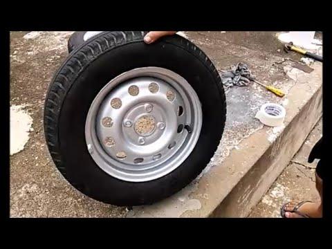 Pintando a roda do carro em casa. Método mais barato.