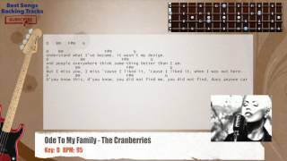 Download Lagu Ode To My Family The Cranberries Bass Backing Track With Chords And Lyrics Mp3