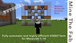 TUTORIAL: Automatic WOOL farm for Minecraft 1.14 (Highly efficient - or naked sheep forever)