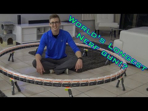 WORLD'S LONGEST NERF GUN 3.0   60+ BARRELS!
