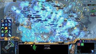 Starcraft 2 - Arcade - Direct Strike - 3vs3 - Protoss - #221 - Epic Fight
