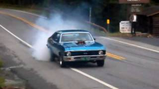 Chevrolet Camaro and Chevrolet Nova Burnout